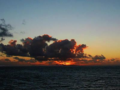 Red Photograph - Dramatic Sea Sky At Dawn by Susan Savad