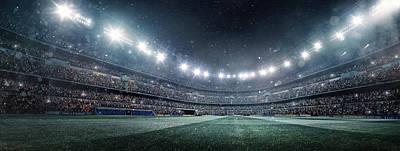 Dramatic Soccer Stadium Panorama Art Print by Dmytro Aksonov