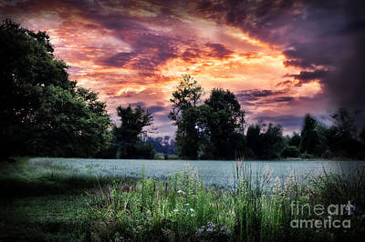 Dramatic Sunrise Print by HD Connelly