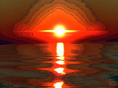 Digital Art - Dramatic Sunset by Augusta Stylianou