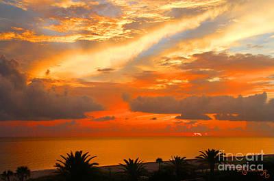 Dramatic Sunset Art Print by Mariarosa Rockefeller