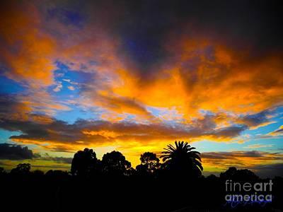 Dramatic Sunset Art Print by Mark Blauhoefer