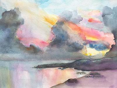 Painting - Dramatic Sunset On A Tropical Beach by Carlin Blahnik
