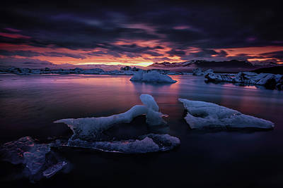 Photograph - Dramatic Sunset Over Glacier Bay by Keith Ladzinski