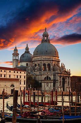 Photograph - Dramatic Sunset Over Grand Canal In Venice by Gurgen Bakhshetsyan