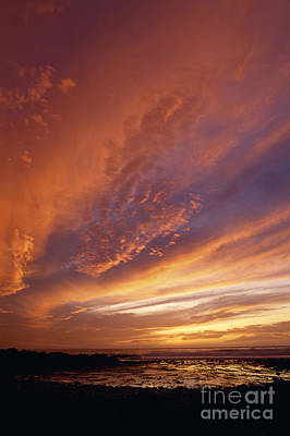 Photograph - Dramatic Sunset Over Pacific Ocean by Jim Corwin