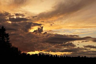Photograph - Dramatic Sunset by Patricia Strand