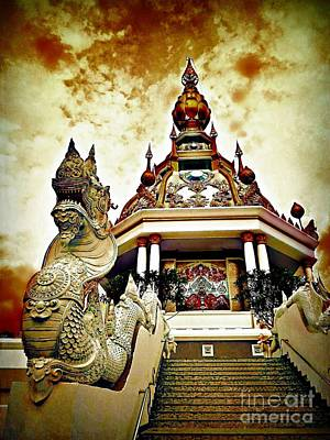 Fantasy Royalty-Free and Rights-Managed Images - Dramatic Temple by Ian Gledhill