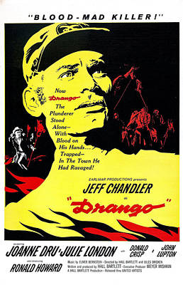 1957 Movies Photograph - Drango, Us Poster, Jeff Chandler by Everett