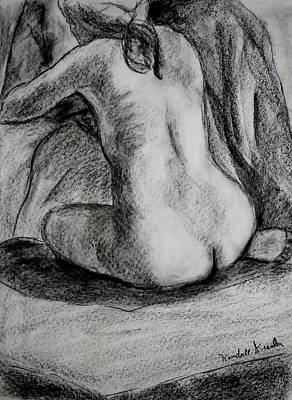 Impressionism Drawings - Drapery Pull by Kendall Kessler