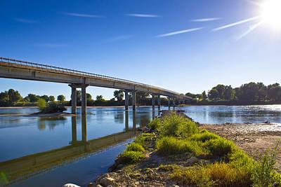Photograph - Drava River Bridge In Podravina by Brch Photography
