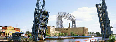 Duluth Photograph - Drawbridge With Aerial Lift Bridge by Panoramic Images