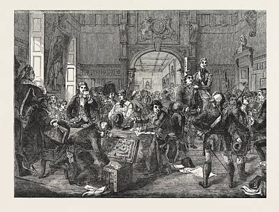 Painted Image Drawing - Drawing For The Militia. Painted By J. Phillip by English School