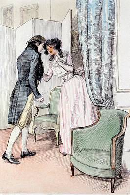 Austen Drawing - Drawing Him A Little Aside by Hugh Thomson