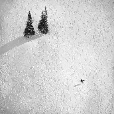 Skiing Photograph - Drawing His Own.. by Peter Svoboda