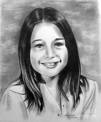 Drawing - Drawing Of A Girl by Lena Auxier