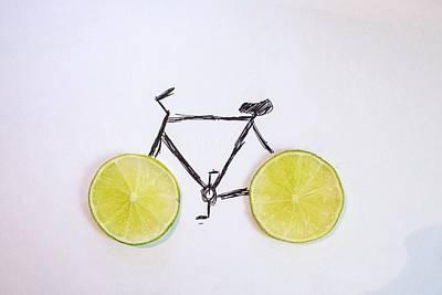Drawing Of Bicycle Art Print by Celine Nguyen / Eyeem