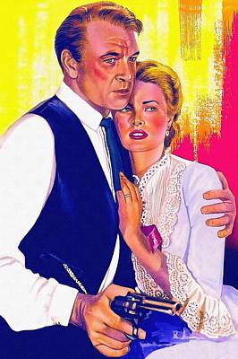 Grace Kelly Mixed Media - Drawing Of High Noon by Art Cinema Gallery