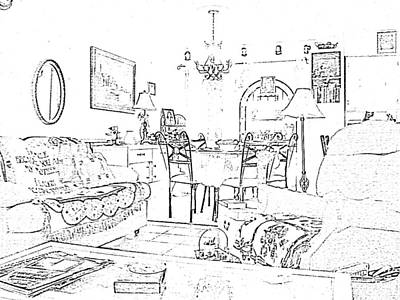 Digital Art - Drawing Of Home By Angeliaclay by Angelia Hodges Clay