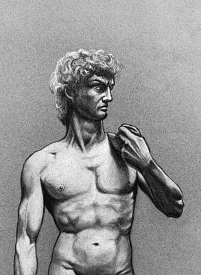 Drawing - Drawing Of Michelangelos David by David Clode
