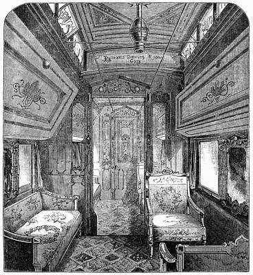 Comfort Painting - Drawing-room Car, 1869 by Granger