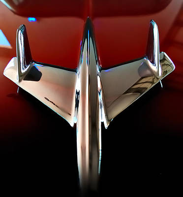 Speeding Chevrolet Photograph - Dream - 55 Chevy Hood Ornament by Steven Milner