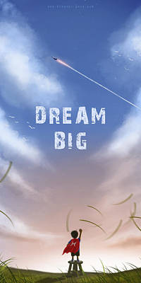 Dream Big Art Print by Hiroshi Shih