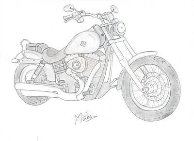 Dream Bike Art Print by Mahalakshmi P