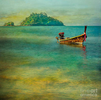 Remote Digital Art - Dream Boat by Adrian Evans