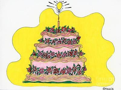 Wedding Preparation Painting - Dream Cake by Mag Pringle Gire