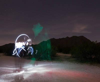 Sonora Desert Painting - Dream Catcher For Rainbow Bridge by Carolina Liechtenstein