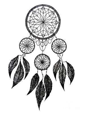 Hoodies Drawing - Dream Catcher by Mischa Art and More