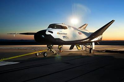 Braking Photograph - Dream Chaser Spaceplane Testing by Nasa