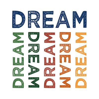 Dreamer Wall Art - Digital Art - Dream Cute Colorful by Flo Karp