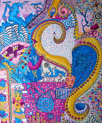 Bright Colours Drawing - Dream Dragon by Amy Mackenzie