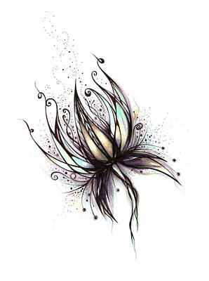 Drawing - Dream Flower by Andrea Carroll