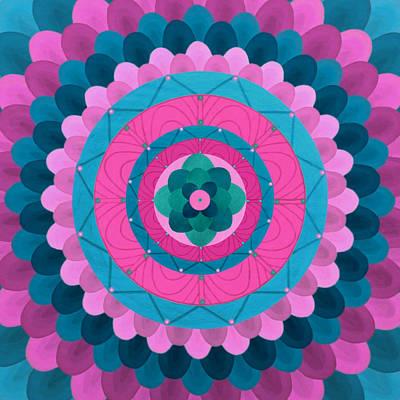 Dream Flower Mandala Art Print by Vlatka Kelc