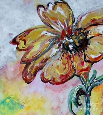 Greens Golds And Pinks Mixed Media - Dream Flower That Suits My Fancy by Eloise Schneider