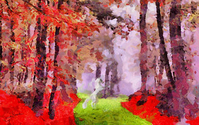Horse Painting - Dream Forest by George Rossidis