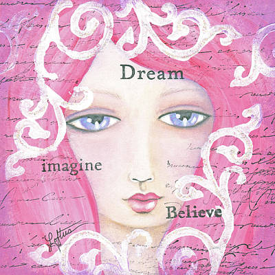 Dream Girl Art Print by Joann Loftus