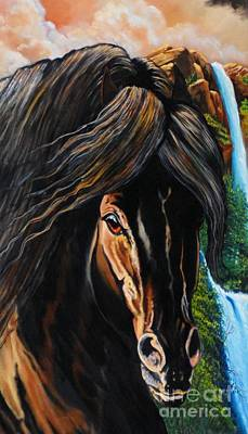 Painting - Dream Horse Series - 002 by Cheryl Poland