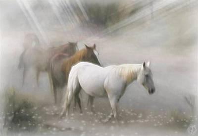 Dream Horses Art Print by Gun Legler