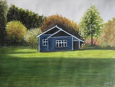 Dream House Art Print by Usha Rai