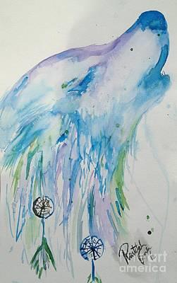 Dream Howl Art Print by Raitchele Cornett