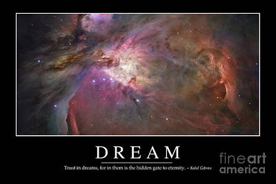 Digital Art - Dream Inspirational Quote by Stocktrek Images