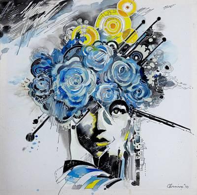 San Diego Artist Painting - Dream Killers by Lana Chromium