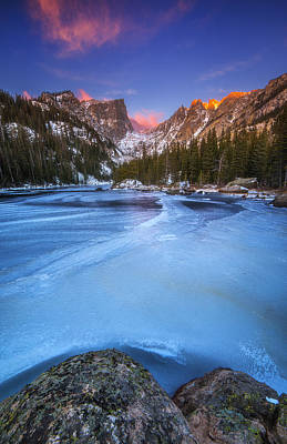 Photograph - Dream Lake Blues by Darren  White