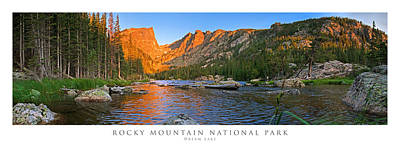 Panoramic Photograph - Dream Lake Rocky Mountain National Park by Posters of Colorado