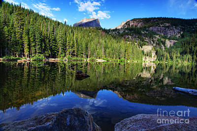 Dream Lake Rocky Mountain National Park Art Print by Wayne Moran