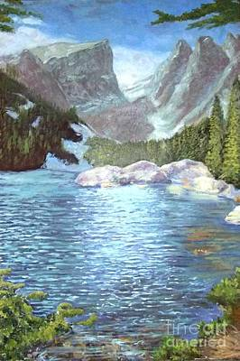 Painting - Dream Lake by Ron Bowles